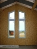 atypická okna v obývacím prostoru (výstavba dřevostavby na klíč - Hradec Králové, Stěžírky)