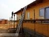 příprava pro instalaci okapních žlabů (výstavba dřevostavby na klíč - Hradec Králové, Stěžírky)