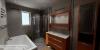 výstavby dřevostavby 4+kk - vizualizace koupelny