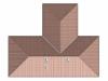 projekt dřevostavby Alegro A - ptačí pohled