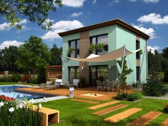 projekt podkrovní dřevostavby na klíč - bungalov Skelet A